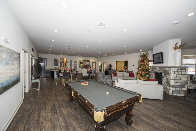Landmark Apartments Pool Table Lounge